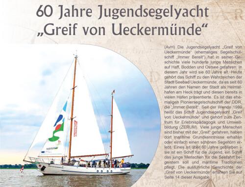 """60 Jahre Jugendsegelyacht """"Greif von Ueckermünde"""""""