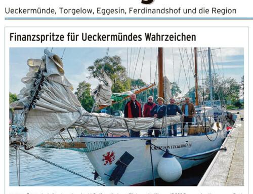 Finanzspritze für Ueckermündes Wahrzeichen