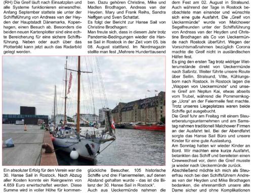 """Neues von der Jugendsegelyacht """"Greif von Ueckermünde"""""""